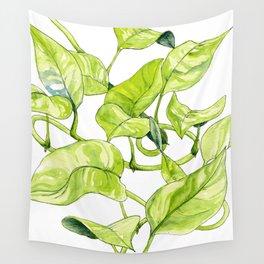Devils Ivy Illustration Wall Tapestry