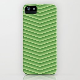 Grassy Green Chevron iPhone Case