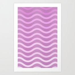 Wavey Purple Art Print
