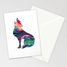 swirly wolf Stationery Cards