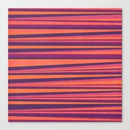 Happy Horizontal Lines Pink Version Canvas Print