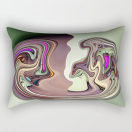 Facing the Blob Rectangular Pillow
