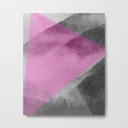 NEON NATURE | Pink Metal Print