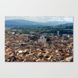 High Above Florence Canvas Print