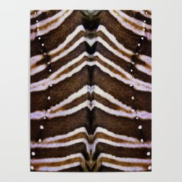 whit and brown pattern Poster