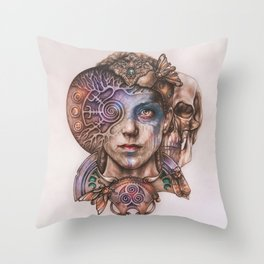 Senua portrait Throw Pillow