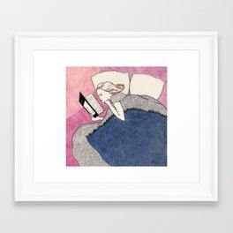 Evening reading Framed Art Print