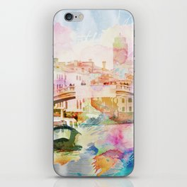 Watercolor cityscape painting - Venice, Italy iPhone Skin