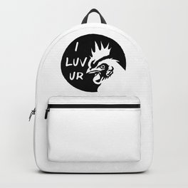 Adult humor sexy naughty love statement - I love your Cock  Backpack