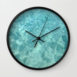 Virgin Island Waters Wall Clock