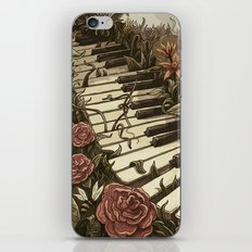 Piano and Flowers iPhone & iPod Skin