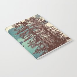 Vintage Blue Crater Lake and Trees - Nature Photography Notebook