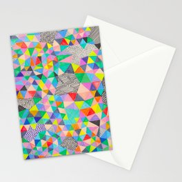 A Geometric Abstract Stationery Cards