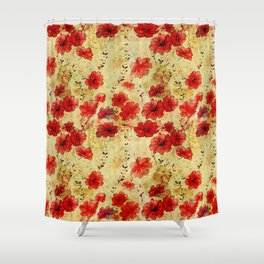 Rose flower vintage pattern Shower Curtain