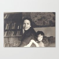 mom Canvas Prints featuring mom by Adary Dary