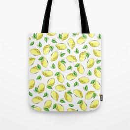 Lemon Watercolor Pattern Tote Bag