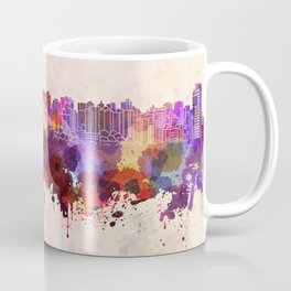 Curitiba skyline in watercolor background Coffee Mug