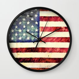 Vintage American Flag Wall Clock