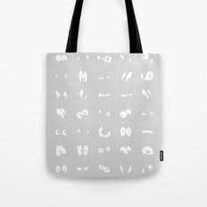 Famous cartoon characters eyes Tote Bag