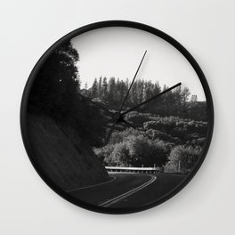 Wine Country Mountain Driving Wall Clock