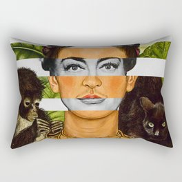 """""""Self Portrait with Thorn Necklace"""" & Joan Crawford Rectangular Pillow"""