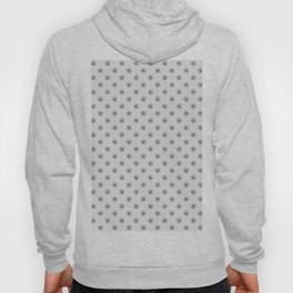 Black on Gray Snowflakes Hoody