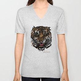 Tiger Face (Signature Design) Unisex V-Neck