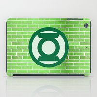 green lantern iPad Cases featuring Green Lantern by DeBUM