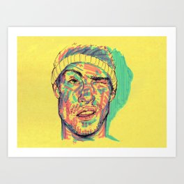 There's some highlighter in my eye Art Print