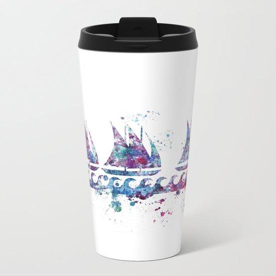Little boats Metal Travel Mug