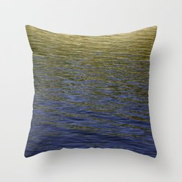 Colorful water at Lock 23 Throw Pillow