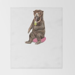 Sun Bear - a Summer Bear 2013 Throw Blanket