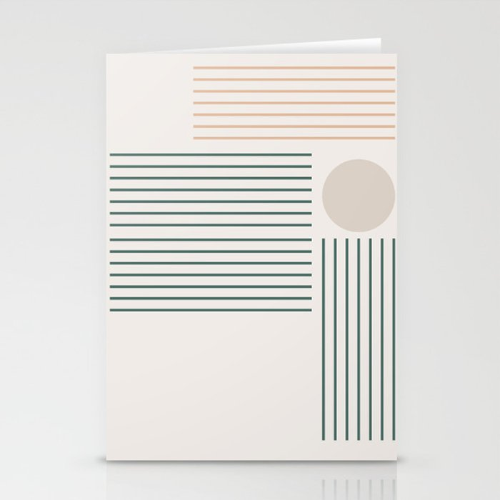 Lines & Circle 03 Stationery Cards