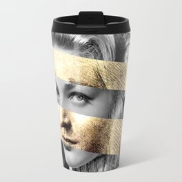 "Leonardo Da Vinci's ""Head of a Woman"" & Lauren Bacall Travel Mug"