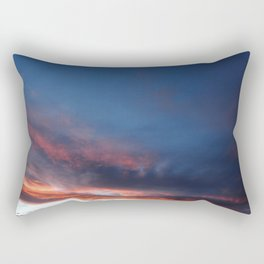 Dramatic Orange Sunset Clouds Rectangular Pillow