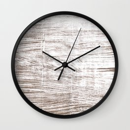 Cinereous abstract watercolor Wall Clock