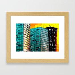 Gran Via Sunset Framed Art Print