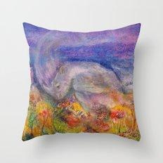 Rhino Wave Throw Pillow