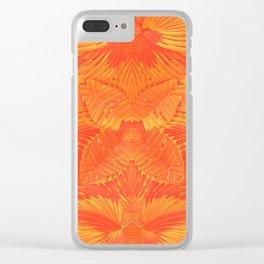 Orange Garden Clear iPhone Case