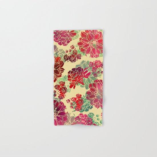 Flower Pattern Design #3 Hand & Bath Towel