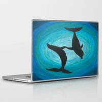 dolphins Laptop & iPad Skins featuring Dolphins by MandiMccl