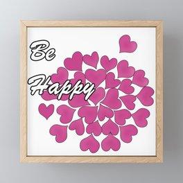Be happy . 3 Framed Mini Art Print