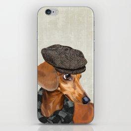 Elegant Mr. Dachshund iPhone Skin