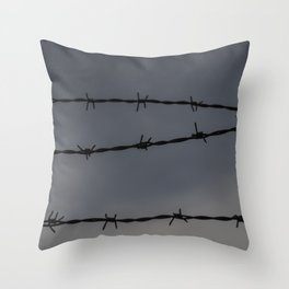 Barb Wire II Throw Pillow