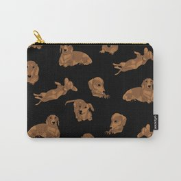 Short Haired Dachshund Pattern Carry-All Pouch