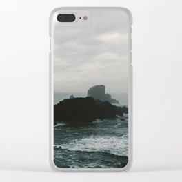Crashing Waves on Cannon Beach Oregon Clear iPhone Case