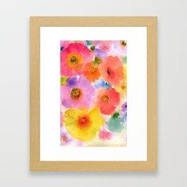 floral watercolor Framed Art Print