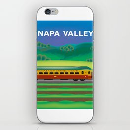 Napa Valley, California - Skyline Illustration by Loose Petals iPhone Skin