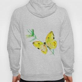 Yellow Butterfly, children butterfly decor kids room, girls room yellow decor butterfly art Hoody