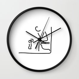 toilet digestion irritant bowel Wall Clock
